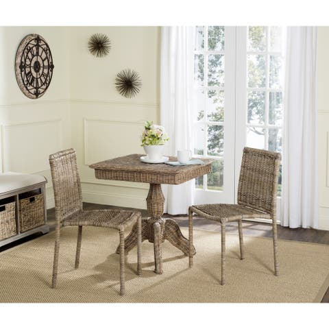 Safavieh Dining Rural Woven Makassar Grey Dining Chairs (Set of 2)