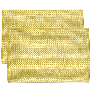 Gold Cotton Two-tone Placemats (Set of 2, 4 or 6)