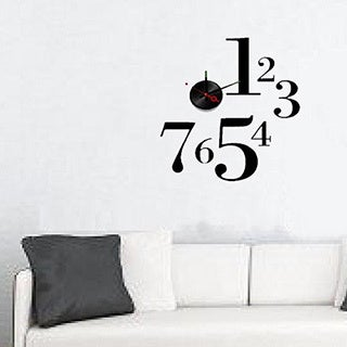 Modern Home Self-adhesive DIY 3D One-to-Seven Wall Clock