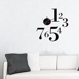 Shop Modern Home Self-adhesive DIY 3D Jackson Wall Clock ...