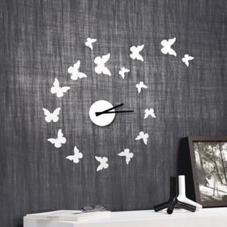 Modern Home Self-adhesive DIY 3D Mariposa Wall Clock