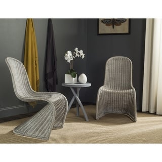Safavieh Rural Woven Dining Tana Antique/ Grey Wicker Dining Chairs (Set Of  2)