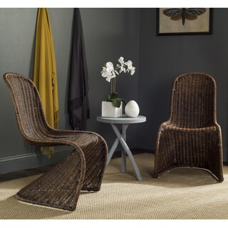 Safavieh Rural Woven Dining Tana Brown/ Multi Wicker Dining Chairs (Set of 2)