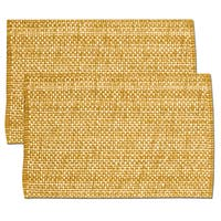Orange Cotton Two-tone Placemats (Set of 2, 4 or 6)