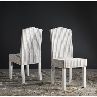 Safavieh Rural Woven Dining Odette White Wicker Side Chairs (Set of 2)