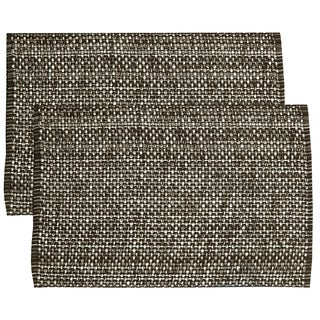Chocolate Cotton Two-tone Placemats (Set of 2, 4 or 6)
