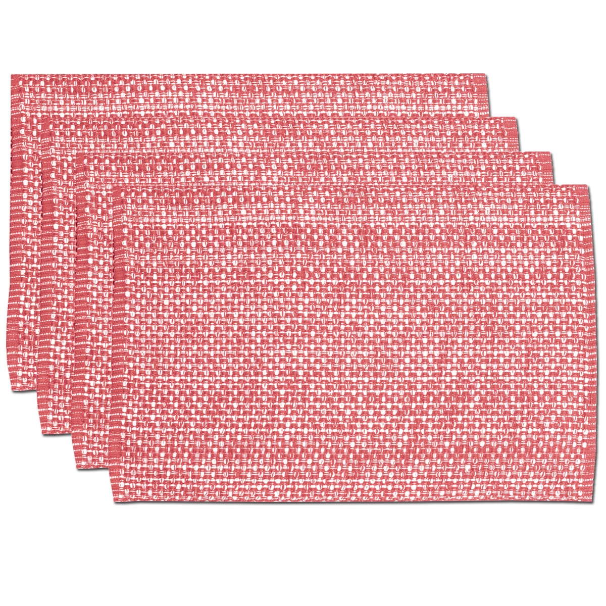 Pink Cotton Two-tone Placemats (Set of 2, 4 or 6) (Set of 4)