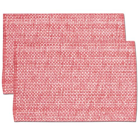 Pink Cotton Two-tone Placemats (Set of 2, 4 or 6)