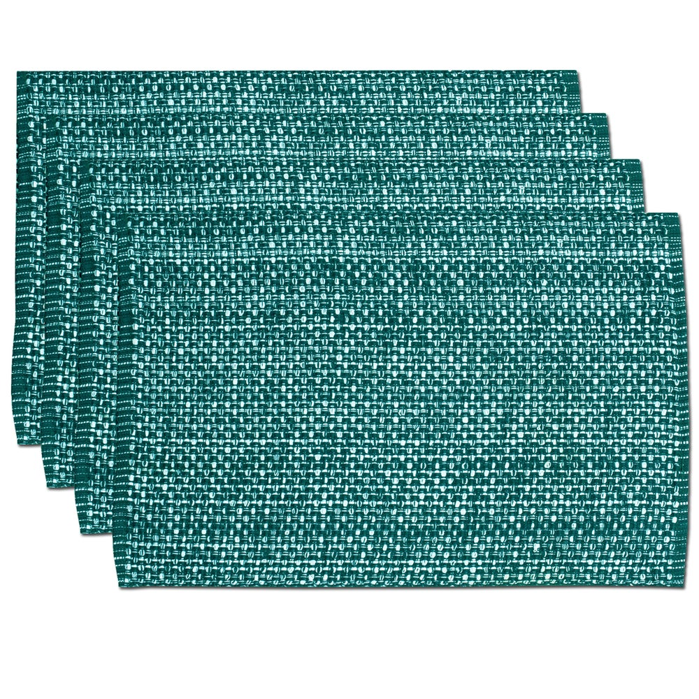 Shop Turquoise Cotton Two-tone Placemats (Set of 2, 4 or 6) - 11391424