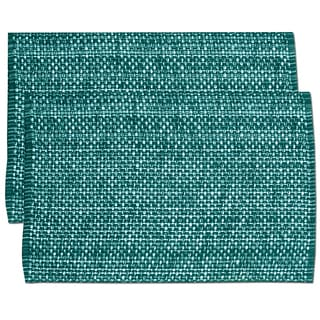 Turquoise Cotton Two-tone Placemats (Set of 2, 4 or 6)