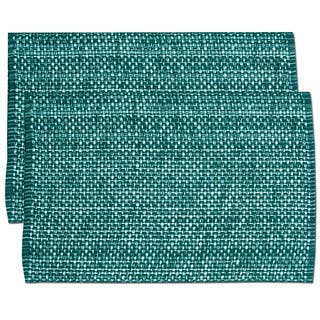 Turquoise Cotton Two-tone Placemats (Set of 2, 4 or 6)|https://ak1.ostkcdn.com/images/products/11391424/P18358631.jpg?impolicy=medium