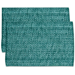 Turquoise Cotton Two-tone Placemats (Set of 2, 4 or 6) (3 options available)