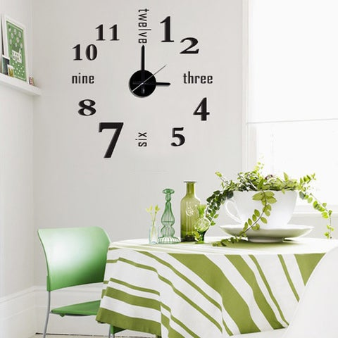 Modern Home Self-adhesive DIY 3D Linus Wall Clock