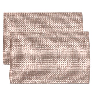 Taupe Cotton Two-tone Placemats (Set of 2, 4 or 6)