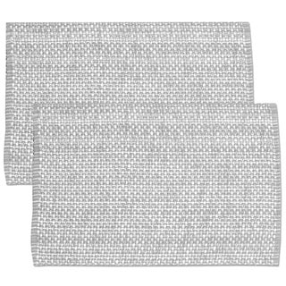 Grey Cotton Two-tone Placemats (Set of 2, 4 or 6) (3 options available)
