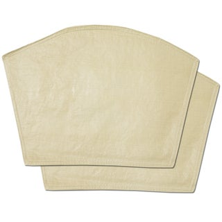 Sand Restaurant Quality Heavyweight Vinyl Wedge Table Placemats (Set of 2, 4 or 6)