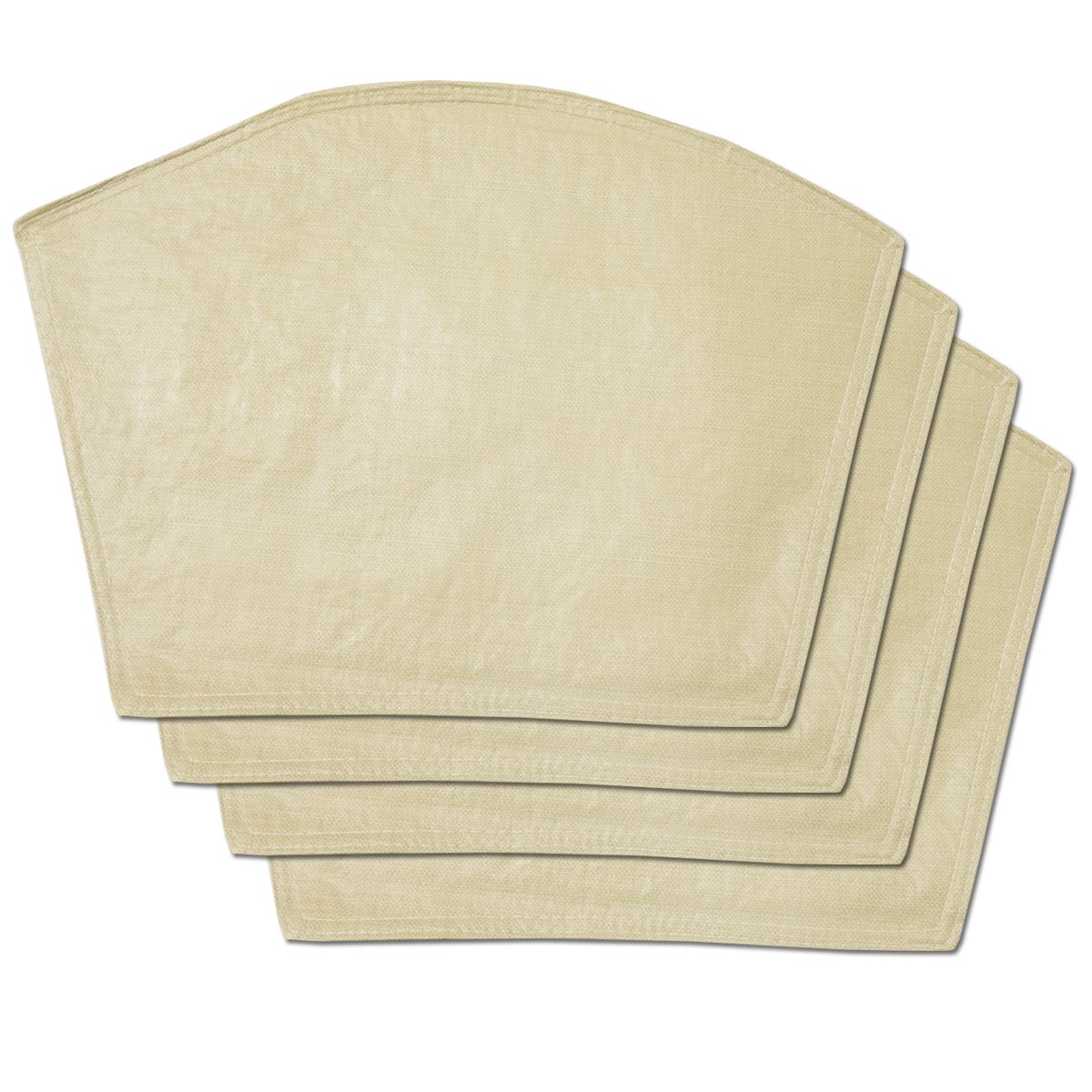 Sand Restaurant Quality Heavyweight Vinyl Wedge Table Pla...
