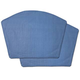 Chambray Restaurant Quality Heavyweight Vinyl Wedge Table Placemats Set Of 2 4 Or 6