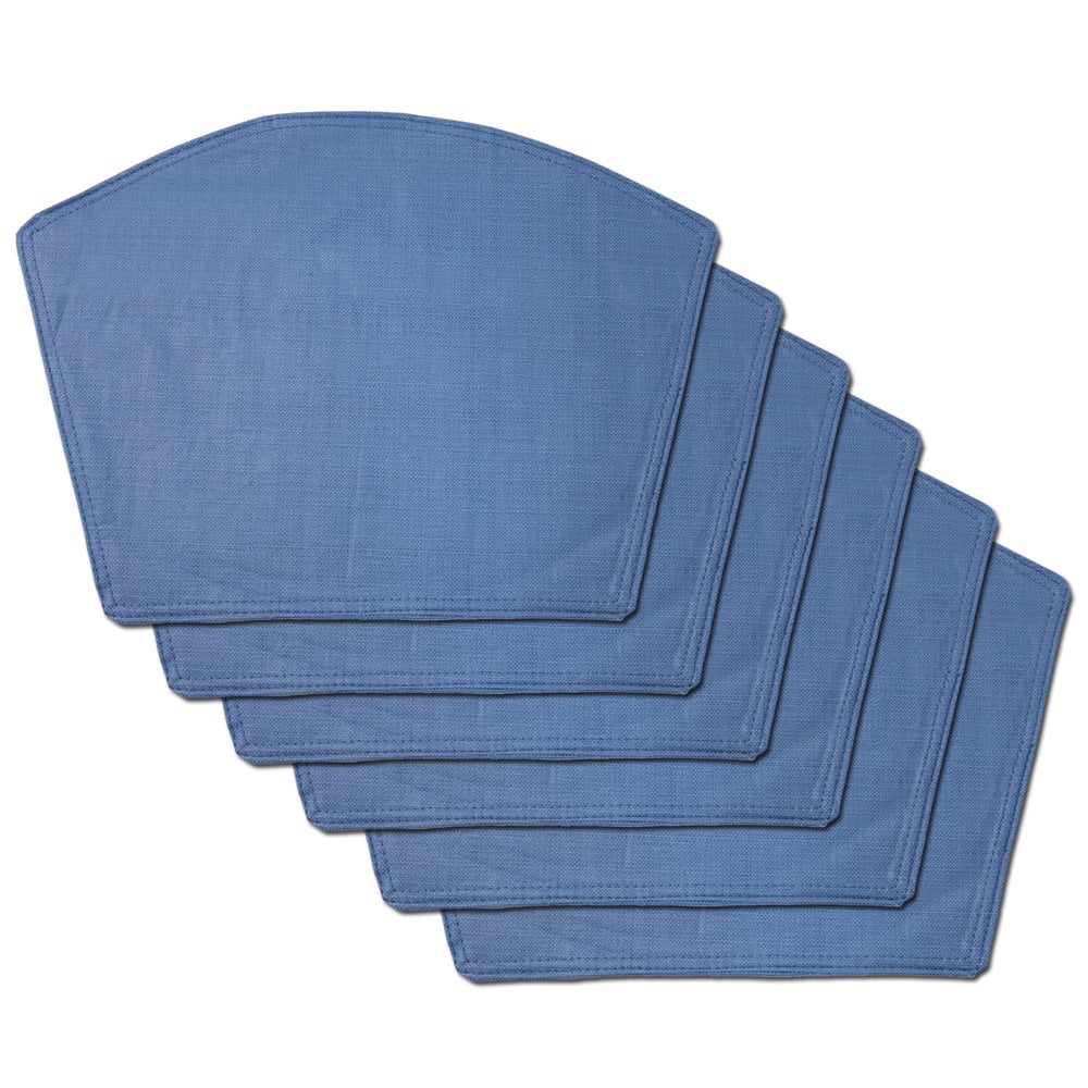 Shop Chambray Restaurant Quality Heavyweight Vinyl Wedge Table Placemats (Set of 2, 4 or 6) - Overstock - 11391444