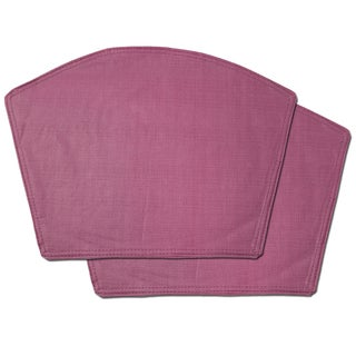 Burgundy Restaurant Quality Heavyweight Vinyl Wedge Table Placemats (Set of 2, 4 or 6)