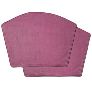 Burgundy Restaurant Quality Heavyweight Vinyl Wedge Table Placemats (Set Of  2, 4 Or 6