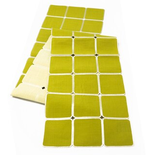 Green/ Oat Reversible Geometric Table Runner