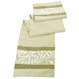 Gold Metallic Leaves Table Runner