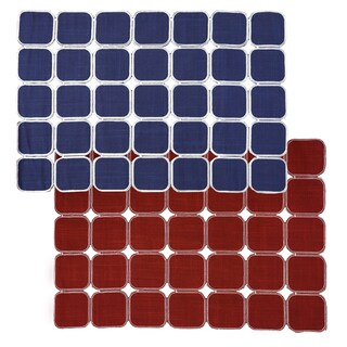 Navy/ Red Reversible Geometric Placemats (Set of 2, 4 or 6)