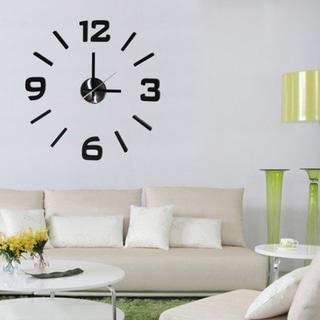 Modern Home Self-adhesive DIY 3D Executive Wall Clock