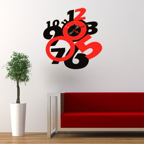 Modern Home Self-adhesive DIY 3D Crazy Eight Wall Clock