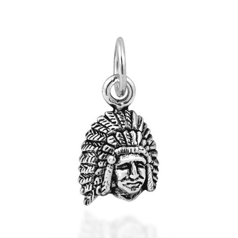 Handmade Native American Style .925 Silver Charm or Pendant (Thailand)