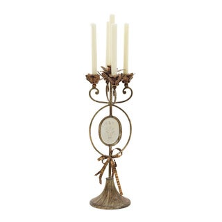 Hip Vintage Antiqued Candelabra