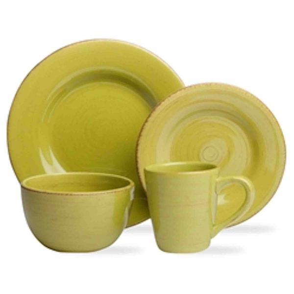 TAG Sonoma Dinnerware Collection Apple Green 16pc  sc 1 st  Overstock.com & TAG Sonoma Dinnerware Collection Apple Green 16pc - Free Shipping ...