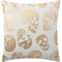 Andrew Charles Atlas  20-inch Foiled Skulls Throw Pillow