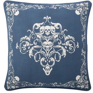 Andrew Charles Paisley Park 20-inch Ornamental Skull Print Throw Pillow