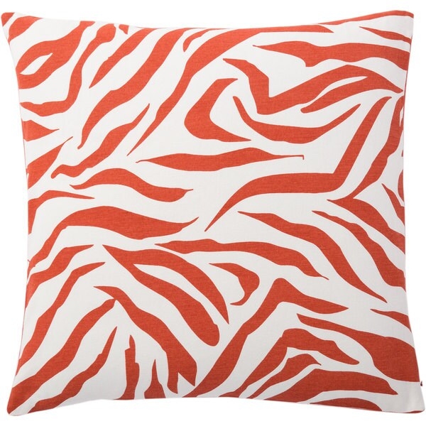 Andrew Charles Atlas 20-inch Zebra Print Throw Pillow
