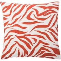 Andrew Charles Atlas 20-inch Zebra Print Throw Pillow