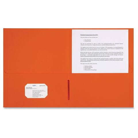 Sparco 2-pocket Leatherette Portfolio