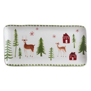 Tag Winter Wonderland Platter - White/Red/Green