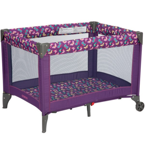 Baby Portable Compact Play Yard PlayPen Bed Crib Toddler Cosco Butterfly Twirl