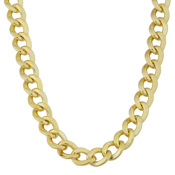 Fremada 14k Yellow Gold Filled 9mm High Polish Miami Cuban Link Men's Chain Necklace
