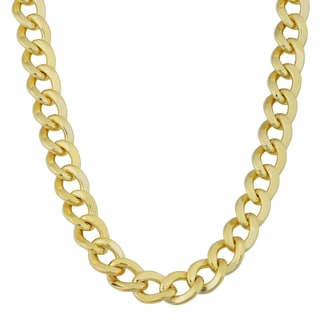 Fremada 14k Yellow Gold Filled Men's 7.4mm High Polish Cuban Link Chain Necklace (20 - 24 inches)