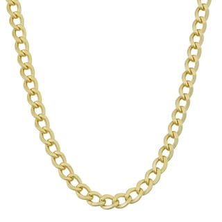 Fremada 14k Yellow Gold Filled 5mm High Polish Miami Cuban Link Chain Necklace