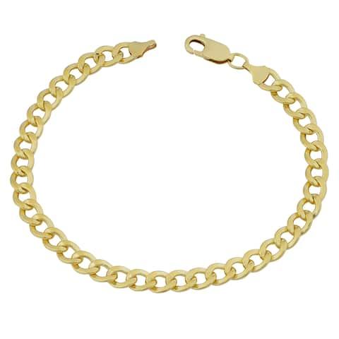 Fremada 14k Yellow Gold Filled 6mm High Polish Men's Miami Cuban Curb Link 8.5-inch Bracelet