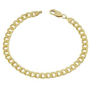 Fremada Yellow Gold Filled 6mm High Polish Men's Miami Cuban Curb Link 8.5-inch Bracelet