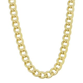 Fremada 14k Yellow Gold Filled Men's 6mm High Polish Cuban Link Chain Necklace (18 - 30 inches)