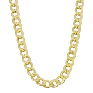 Fremada 14k Yellow Gold Filled 6mm High Polish Miami Cuban Link Men's Chain Necklace|https://ak1.ostkcdn.com/images/products/11391735/P18358889.jpg?impolicy=medium