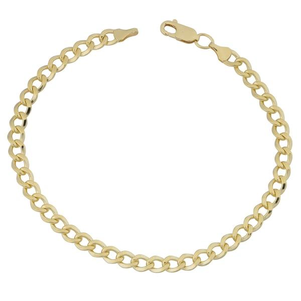 Fremada 14k Yellow Gold Filled 5mm High Polish Miami Cuban Link 8.5-inch Bracelet