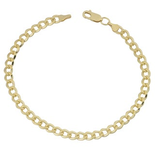 Fremada Yellow Gold Filled 5mm High Polish Miami Cuban Link 8.5-inch Bracelet