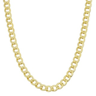 Fremada Yellow Gold Filled 4.2mm High Polish Miami Cuban Curb Link Chain Necklace